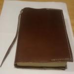 レザークラフト初心者の作品「ブックカバー」型紙&製作工程[作成目安時間2時間]