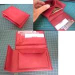 少し変わったミドルウォレットの型紙&作り方