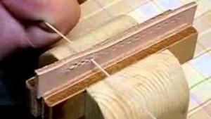 レザークラフトの基本技法5~革を糸で縫い合わせる