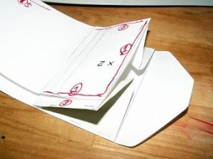 型紙の設計3_サイズ感チェック_レザークラフト