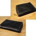 レザークラフト~L字ファスナーのコイン&カードケースの作り方&型紙公開