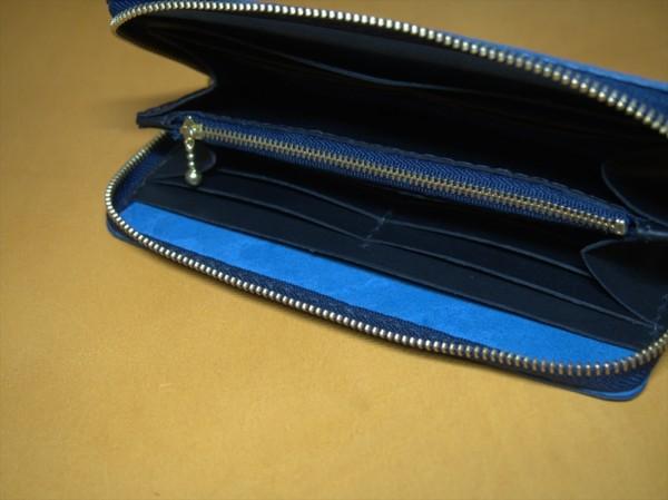 レザークラフト初心者のラウンドファスナー長財布の制作過程6