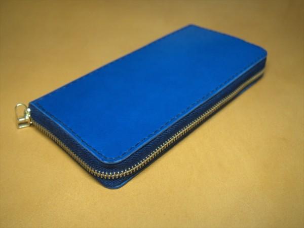 レザークラフト初心者のラウンドファスナー長財布の制作過程5