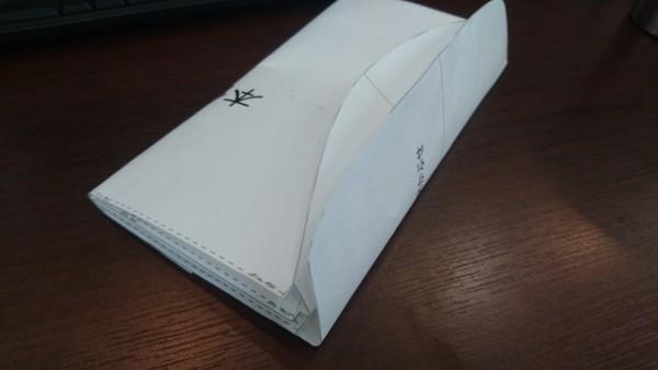 レザークラフト型紙の紙試作