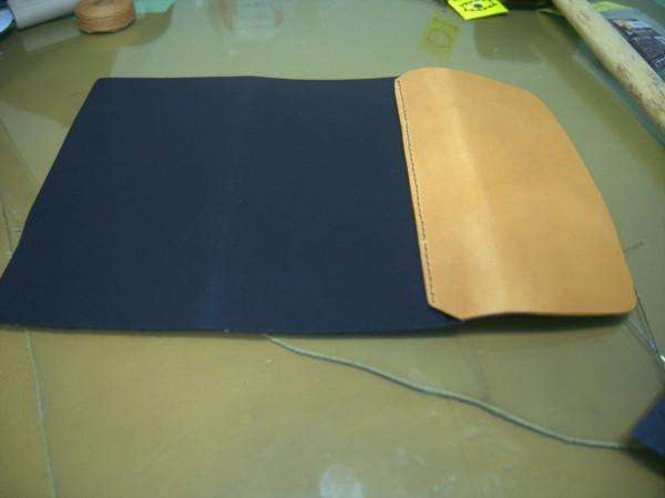 【レザークラフト】有料型紙で長財布を作ってみた5