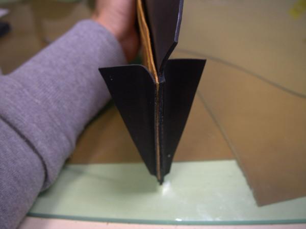 【レザークラフト】有料型紙で長財布を作ってみた8