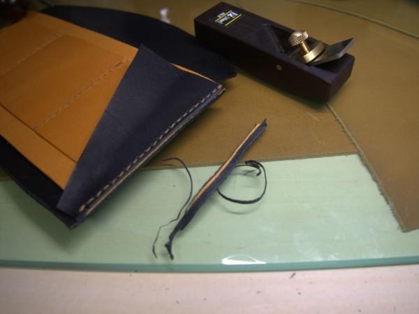 【レザークラフト】有料型紙で長財布を作ってみた9