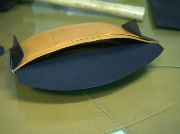 【レザークラフト】有料型紙で長財布を作ってみた10