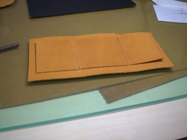 【レザークラフト】有料型紙で長財布を作ってみた3