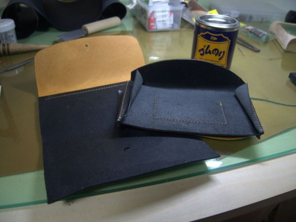 【レザークラフト】有料型紙で長財布を作ってみた12