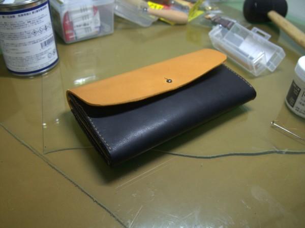 【レザークラフト】有料型紙で長財布を作ってみた14