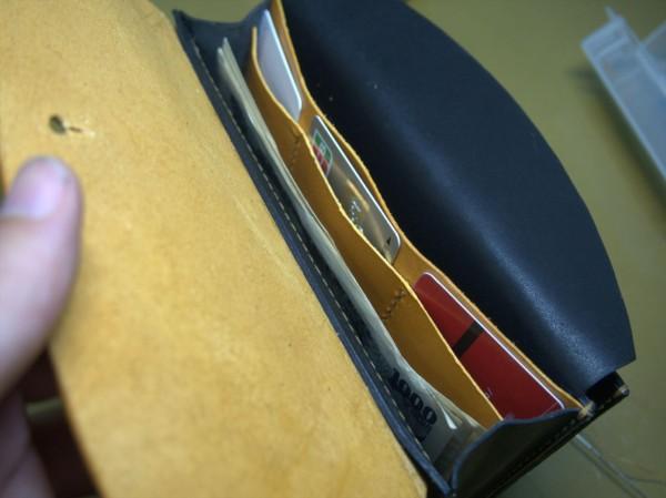 【レザークラフト】有料型紙で長財布を作ってみた17