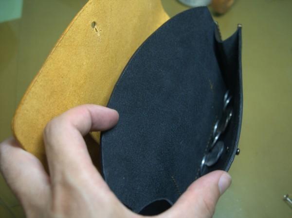 【レザークラフト】有料型紙で長財布を作ってみた18