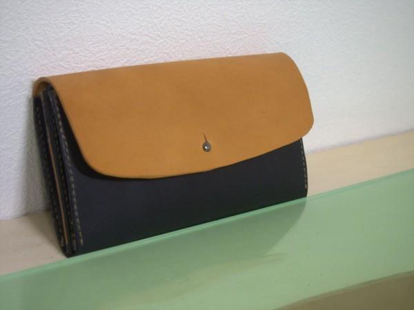 【レザークラフト】有料型紙で長財布を作ってみた16