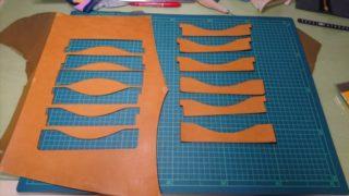レーザー加工機なら正確に型紙と同じサイズの革を切り抜ける!