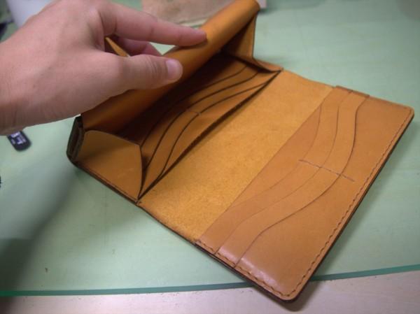 【レザークラフト】レーザー加工機で長財布作り15