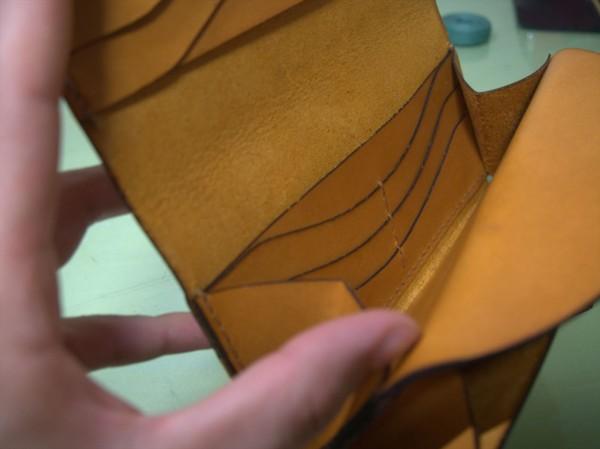 【レザークラフト】レーザー加工機で長財布作り16