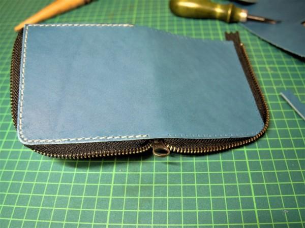 L字ファスナーの小型財布|レザークラフト (10)