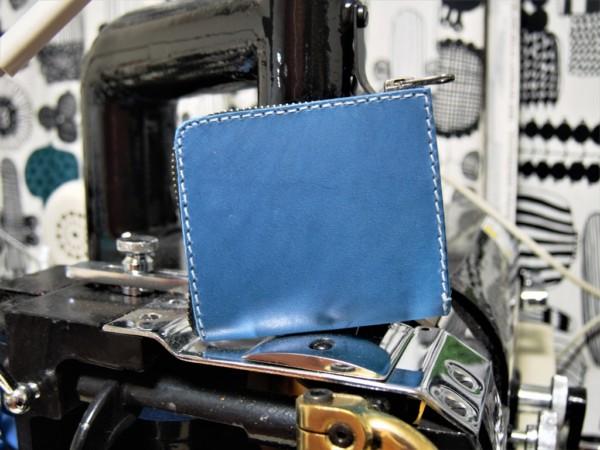 L字ファスナーの小型財布|レザークラフト (11)