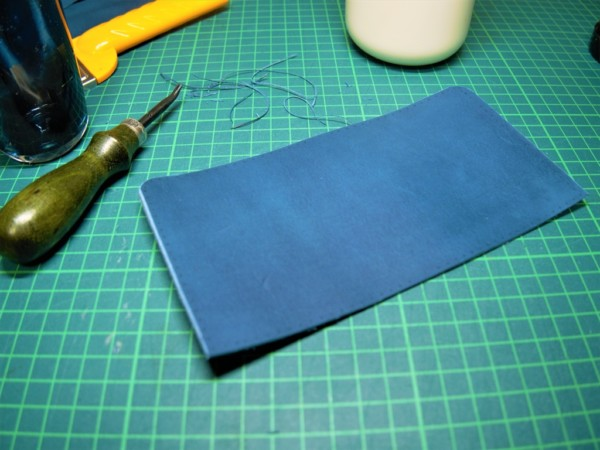 L字ファスナーの小型財布|レザークラフト (2)
