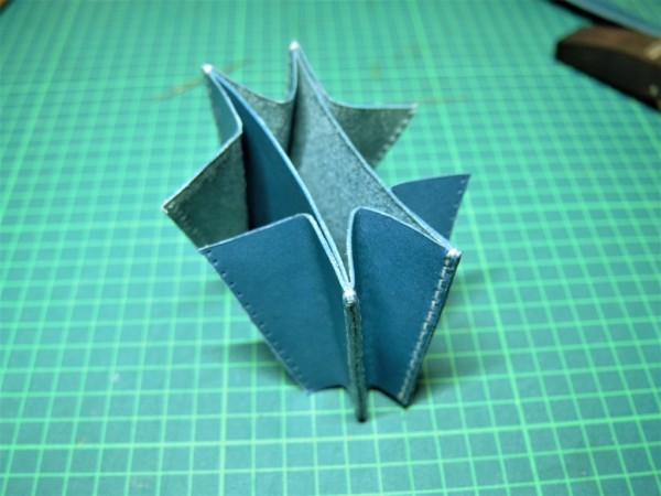 L字ファスナーの小型財布|レザークラフト (6)