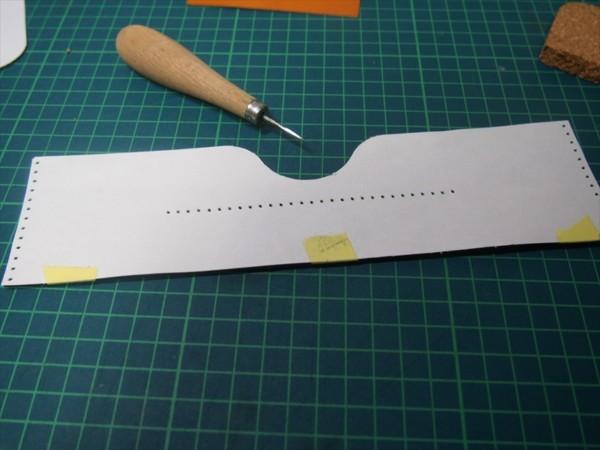 [レザークラフト]革の領収書入れの作り方 (7)_R