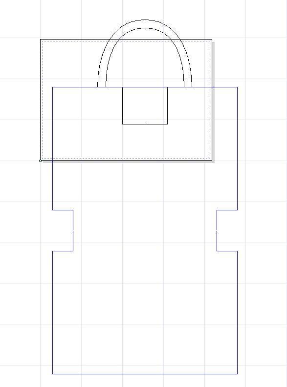 レザークラフト初心者のトートバッグ製作過程_型紙設計
