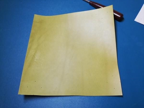 レザークラフト無料ダウンロード型紙革のトレーの作り方 (2)