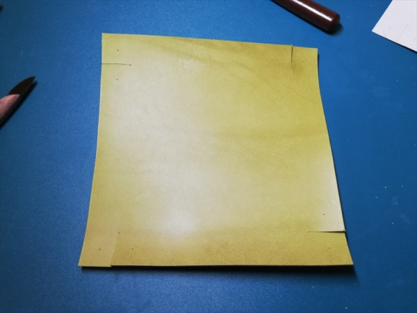 レザークラフト無料ダウンロード型紙革のトレーの作り方-3
