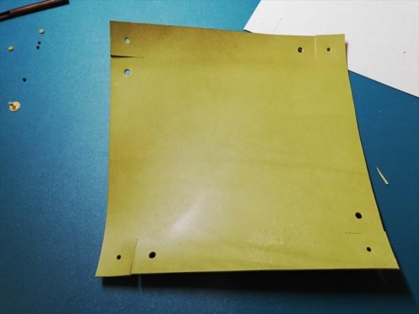 レザークラフト無料ダウンロード型紙革のトレーの作り方-5
