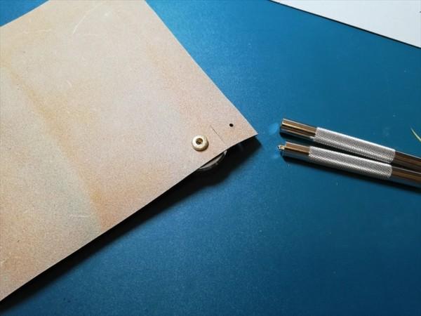 レザークラフト無料ダウンロード型紙革のトレーの作り方-6