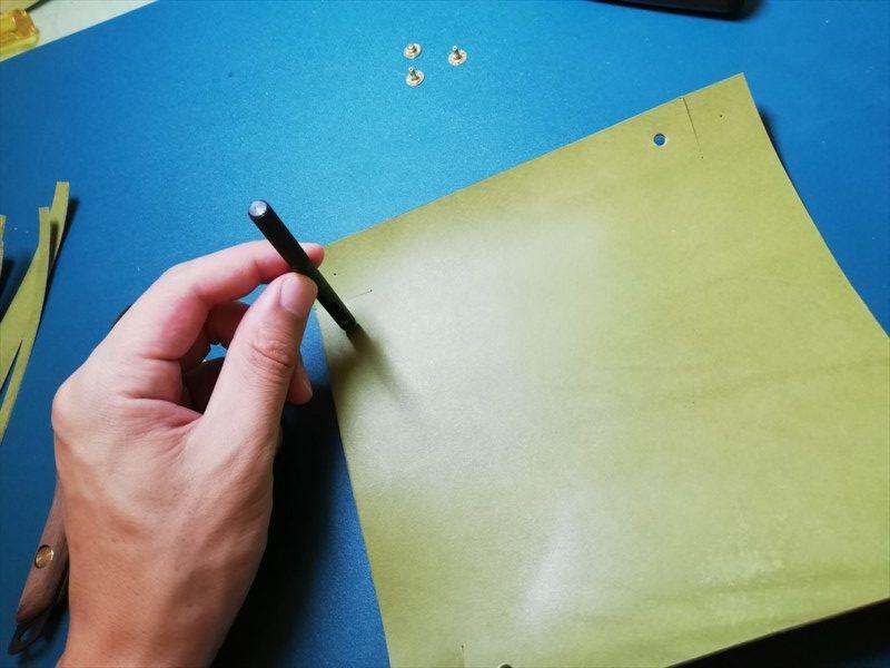 レザークラフト無料ダウンロード型紙革のトレーの作り方-4