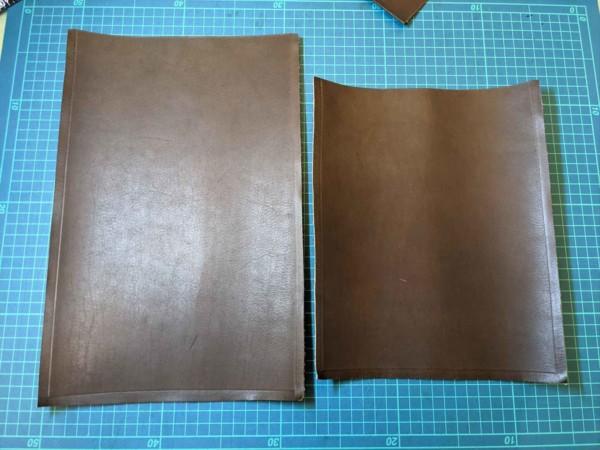 シンプルなipadケースのレザークラフト型紙