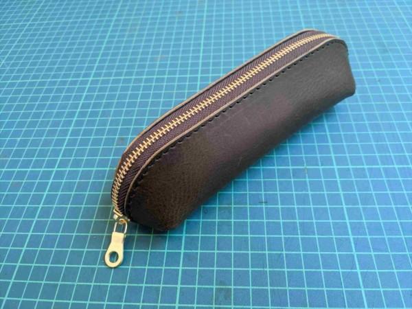 [レザークラフト]A4サイズの革で作るペンケースの作り方