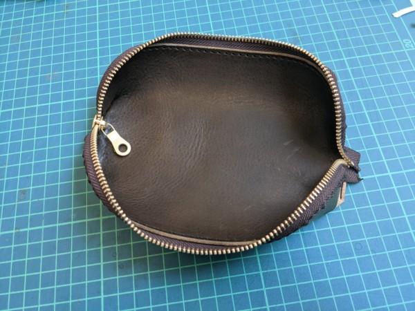 [レザークラフト]A4サイズの革で作るペンケースの作り方 10